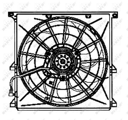 ventilateur refroidissement du moteur nrf 47024 wda. Black Bedroom Furniture Sets. Home Design Ideas