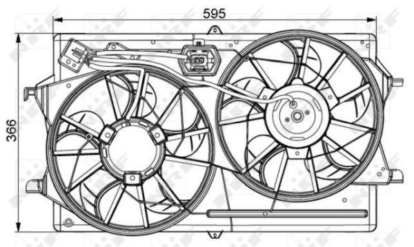 ventilateur  refroidissement du moteur pour ford focus