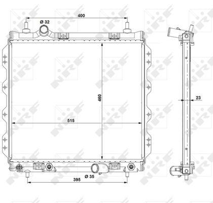 radiateur du moteur pour chrysler pt cruiser 2 2 crd 150cv wda. Black Bedroom Furniture Sets. Home Design Ideas