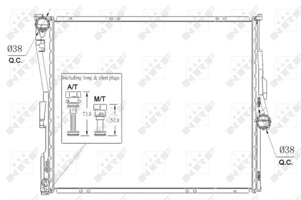 radiateur du moteur pour bmw x3  e83  xdrive20d 177cv