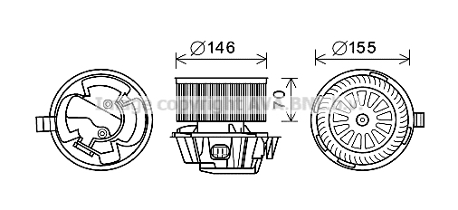 moteur  u00e9lectrique  pulseur d u0026 39 air habitacle pour nissan