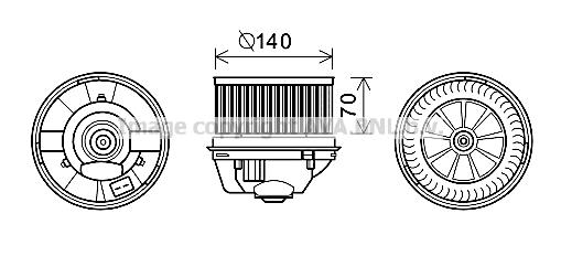 moteur  u00e9lectrique  pulseur d u0026 39 air habitacle pour ford s