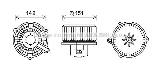moteur  u00e9lectrique  pulseur d u0026 39 air habitacle pour hyundai