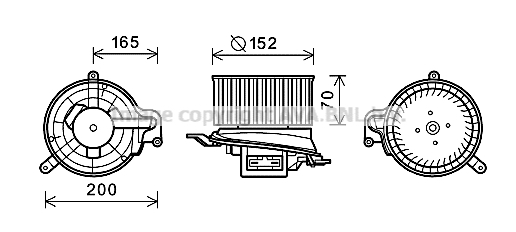 moteur  u00e9lectrique  pulseur d u0026 39 air habitacle pour renault