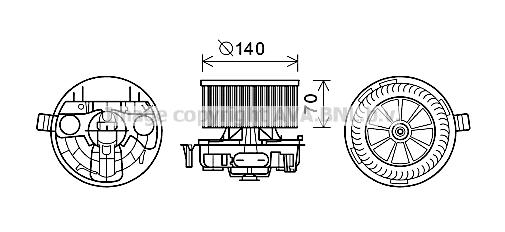 moteur  u00e9lectrique  pulseur d u0026 39 air habitacle pour renault megane ii berline  lm  1 5 dci 106cv